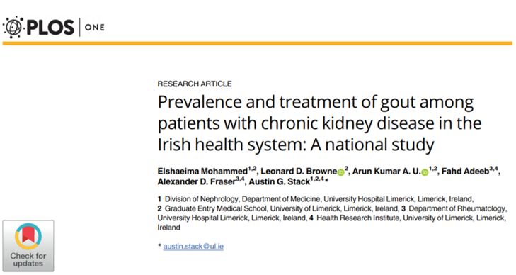 Prevalence and Treatment of Gout among Patients with Chronic Kidney Disease in the Irish Health System: A National Study